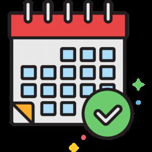 Icoon van kalender