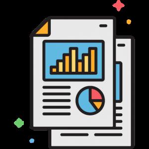 Icoon van schattingsrapport